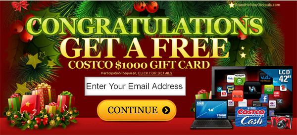 Get Costco Gift Card for FREE! (limited time only) - Facebook Scam