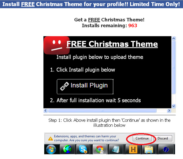 Get Christmas Theme for FB on --->> Cool new christmas feature or theme <<--- Facebook Scam