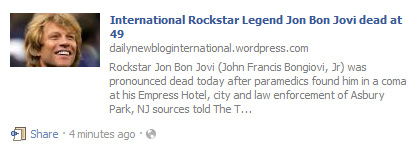 [Hoax Alert] International Rockstar Legend Jon Bon Jovi dead at 49