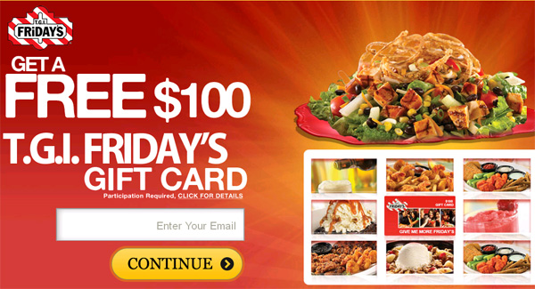 Eat at TGI Friday's for FREE! - Facebook Scam