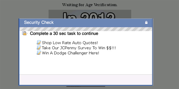 OMG in 2012 I will [random act] find out what will happen to you in 2012 NOW => - Facebook Scam