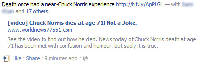 [video] Chuck Norris dies at age 71! Not a Joke.- Facebook Scam