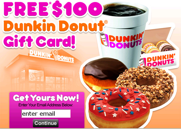 Get Dunkin Donut Gift Card for FREE! (limited time only) - Facebook Scam