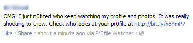 OMG! I just n0ticed who keep watching my profile and photos. It was really shocking to know. – Facebook Scam