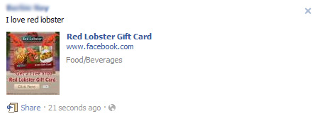 Red Lobster Gift Card – Facebook Scam