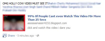 99% 0f People Cant even Watch This Video F0r More Than 25 Secs – Facebook Scam