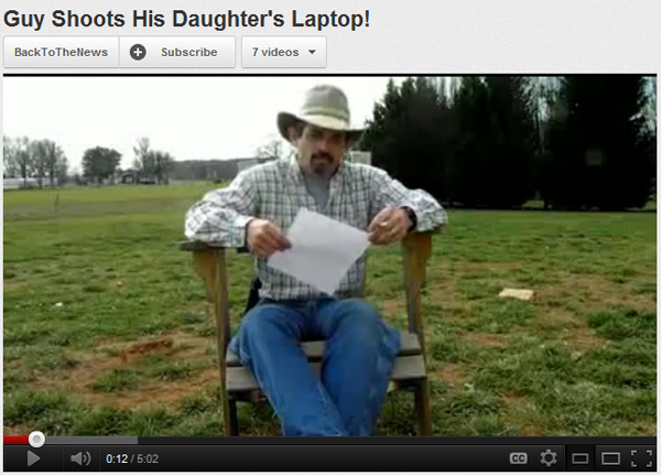 Dad Shoots Daughter's Laptop over Facebook Rant!