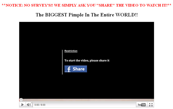 (VIDEO) The BIGGEST Pimple In The Entire World!! - Facebook Scam