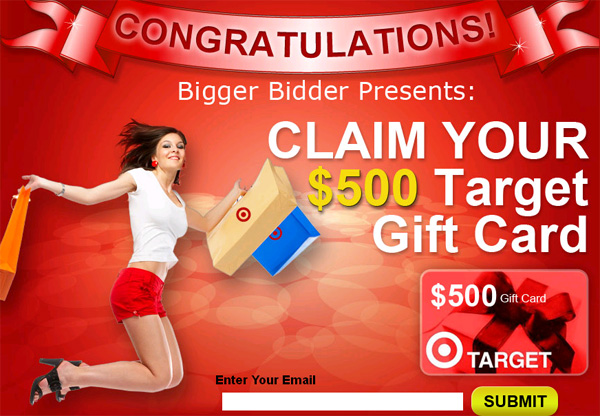 FREE $500 Target GiftCard! (limited time only) - Facebook Scam