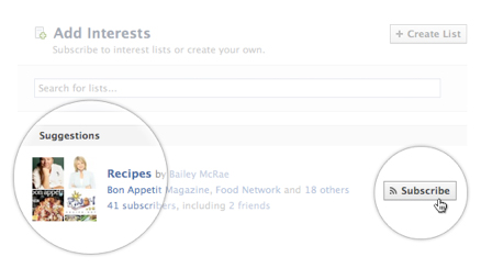 Facebook introduces 'Interests Lists' - The goal is your own personalized Newspaper