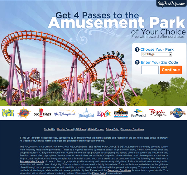 Receive 4 Free Tickets to Cedar Point (Limited Time Only) - Scam Alert
