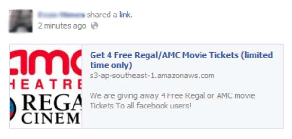 Get 4 Free Regal/AMC Movie Tickets (Limited Time Only) – Facebook Scam