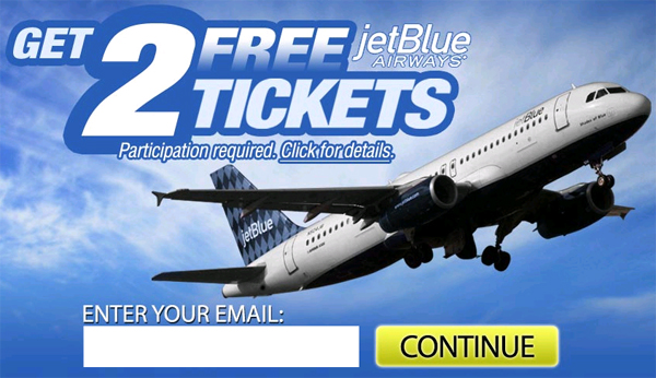 2 Free JetBlue Airline Tickets! (Limited Time Only) - Facebook Scam