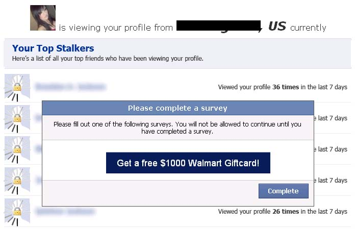 My biggest stalker is random friend and my total profile views are __. Which Friend Stalks You the Most? Find Out Here - Facebook Scam