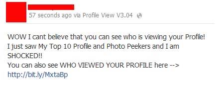 WOW I cant believe that you can see who is viewing your Profile! I just saw My Top 10 Profile and Photo Peekers and I am SHOCKED!! – Facebook Scam