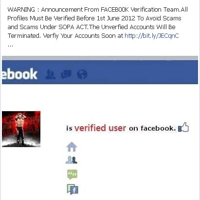 WARNING : Announcement From FACEB00K Verification Team.All Profiles Must Be Verified – Facebook Scam