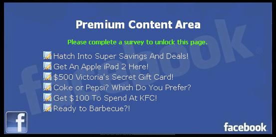 Free Facebook Credits Generator  - Facebook Scam