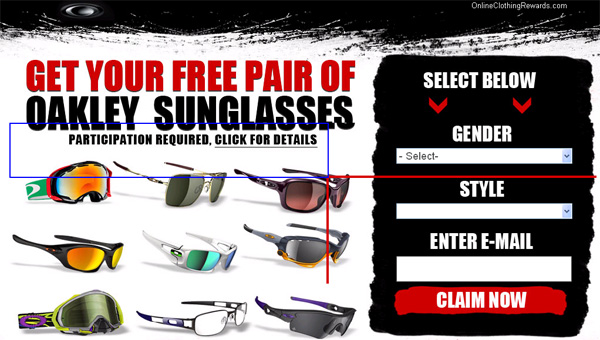 Get a Free Pair of Oakleys! (limited time only)! - Facebook Scam