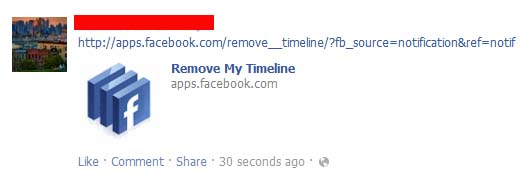 Remove My Timeline – Facebook Spam