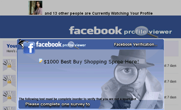 Wooot! Thanx to FACEB00K group for finally releasing a w0rking app to check who VlEWED your PR0FlLE - Facebook Scam