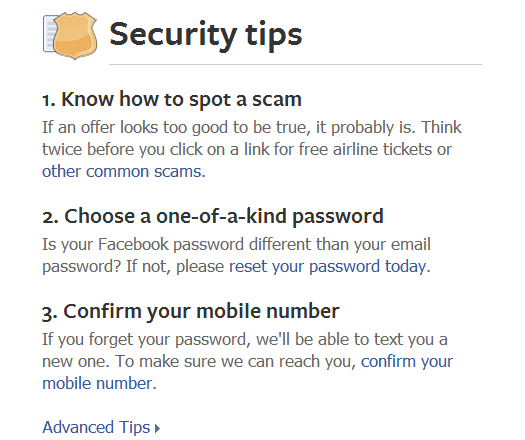 Facebook is Rolling out Security Tips to Users