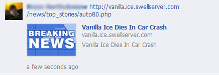 Vanilla Ice Dies In Car Crash – Facebook Hoax