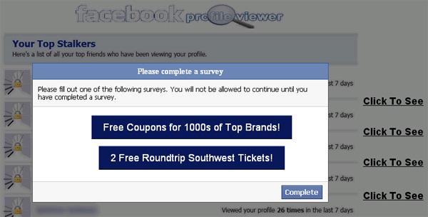 Facebook Profile Viewer - Facebook Scam