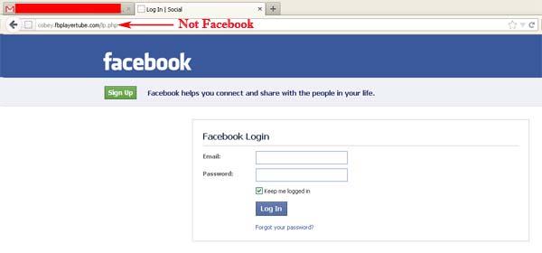 Internet secruty- facebook phishing