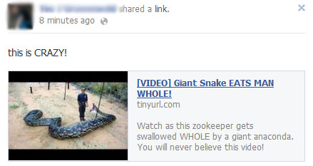 [VIDEO] Giant Snake EATS MAN WHOLE! – Facebook Scam