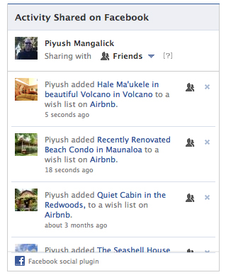 "Facebook Launches New ""Shared Activity"" Plugin"