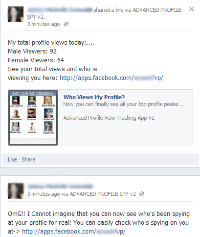 OmG!I Cannot imagine that you can now see who's been spying at your profile for real! You can easily check who's spying on you at -> Facebook Scam