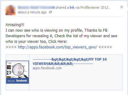 Amazing!!! I can now see who is viewing my profile, Thanks to FB Developers for revealing it – Facebook Scam
