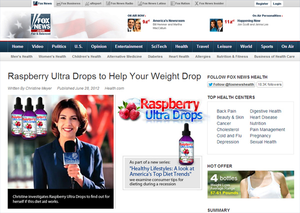 Raspberry Ultra Drops is cool stuff! Really rocks! lost 6 pounds within a week - Facebook Scam