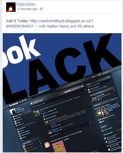 Black Facebook – Add it Today – Facebook Scam