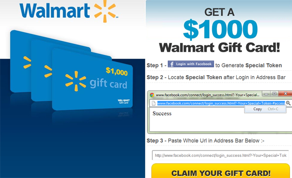 Facebook And Walmart Invite You To Get A 1000 Gift Card This