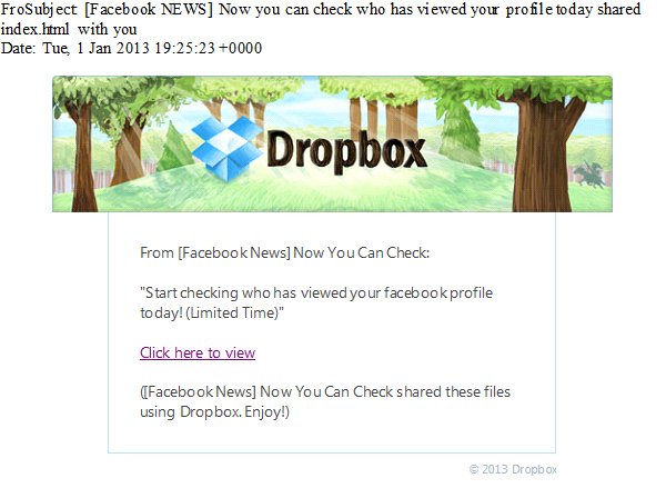 Facebook Profile Viewer Scam Uses Email and Dropbox to Trick Users