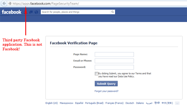 'Page Security Team' Phishing Scam Targets Facebook Page Admins