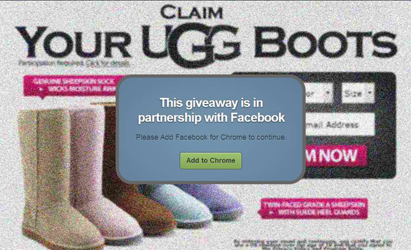 UGG Boots Giveaway – Facebook Scam