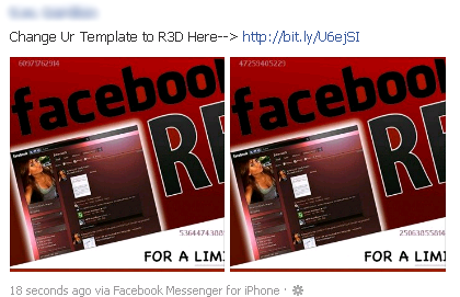 Change Ur Template to R3D Here–> bit.ly – Facebook Scam
