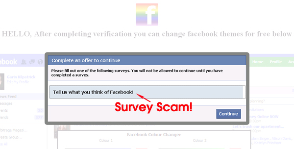 Say Bye to the Old blue Facebook and Say Hi to the New Pink Facebook - Survey Scam