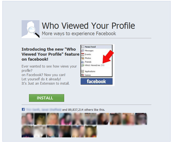 Who Viewed Your Profile – More ways to experience Facebook – Scam