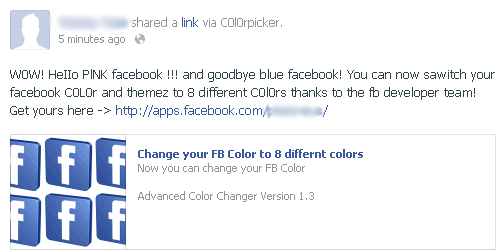 Change your FB Color to 8 different colors – Facebook Scam