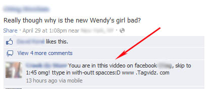 Tagvidz is a Facebook Phishing Scam