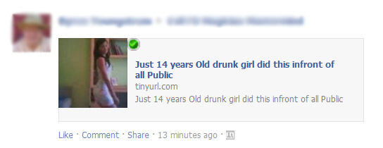 Just 14 years Old drunk girl did this infront of all Public - Facebook Scam