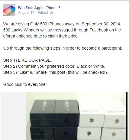 Win A Free Iphone 6 >> Beware Of Free Iphone 6 Scams