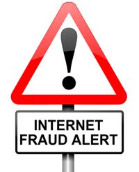 Internet fraud concept.
