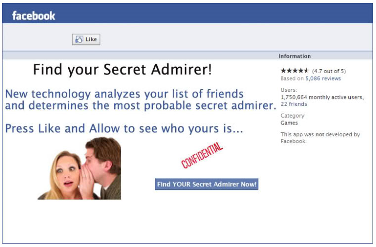Who is my secret admirer on facebook