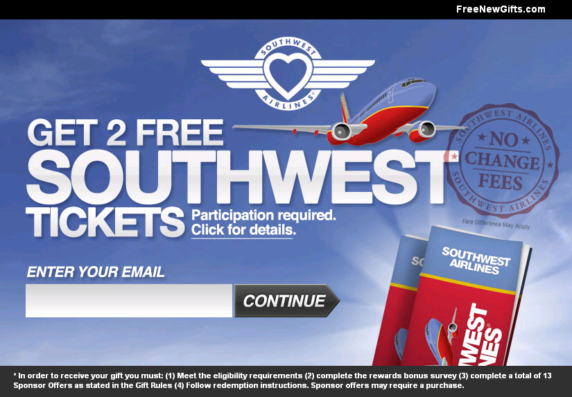 free southwest airline tickets