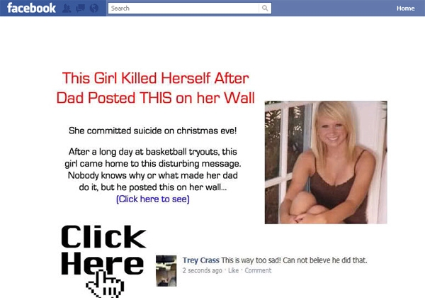 'Honestly, I was shaking after I read this, it was a nice girl' - Facebook Scam