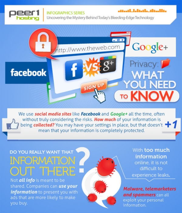 Google+ vs Facebook Privacy - Infographic